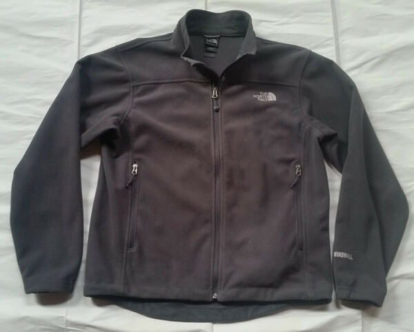 The North Face Men#x27;s Windwall Full Zip Jacket Size M Gray Hiking