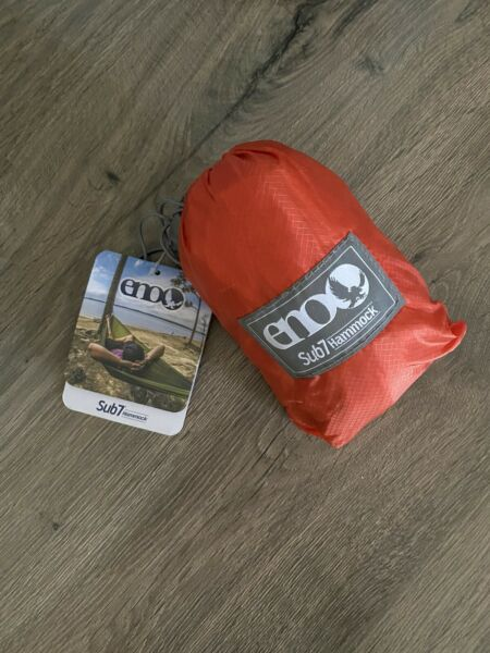 ENO Sub7 6.5oz Lightweight Nylon Hammock Orange Brand New $49.99
