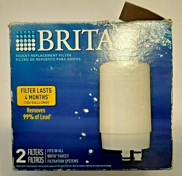 Brita On Tap Water Faucet Replacement Filter White FR 200