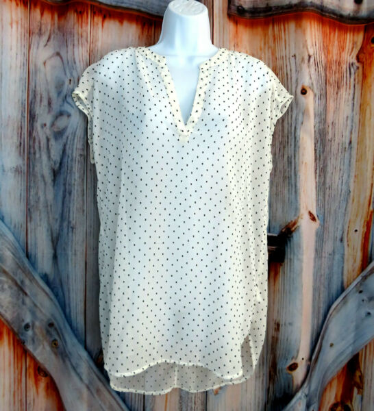 New Halogen Womens Stitch Fix Embroidered Shirt Top Blouse Sz S Small