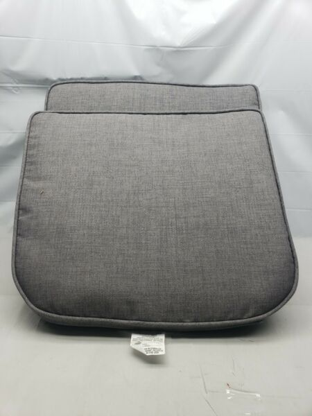 Set Of 2 Allen Roth Sunbrella Seat Cushion 18quot; x 21quot; Outdoor Cushion Pad L2 $37.01