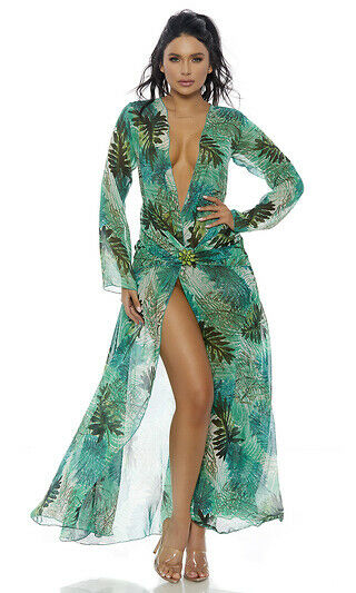 Sexy Forplay Love Don#x27;t Cost A Thing Superstar JLO Green Dress Costume 559624 $89.99