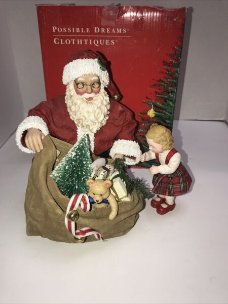 Vintage Clothtiques Possible Dreams Santa For A Special Little Girl $24.99