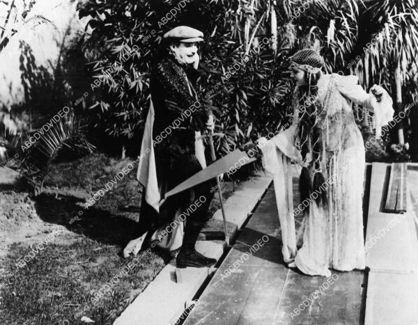 2729 4 Lew Cody Gloria Swanson playing around outdoor sets silent film Don#x27;t Cha $49.99