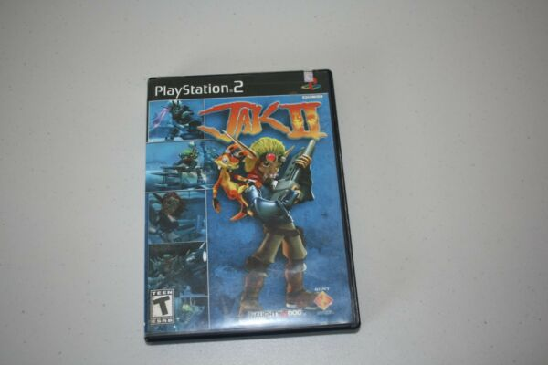 Playstation 2 JAK II Video Game Complete With Manual Naughty Dog Rated T $10.99