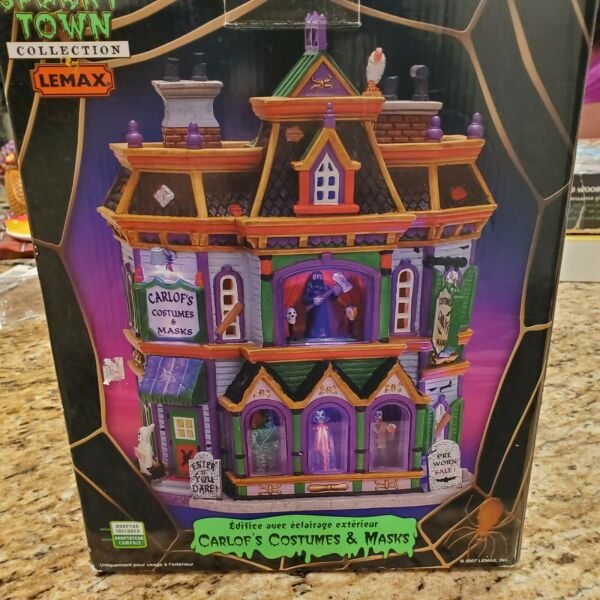 Lemax Spooky Town Carlof's Costumes and Masks RARE With Box Read Description $119.99