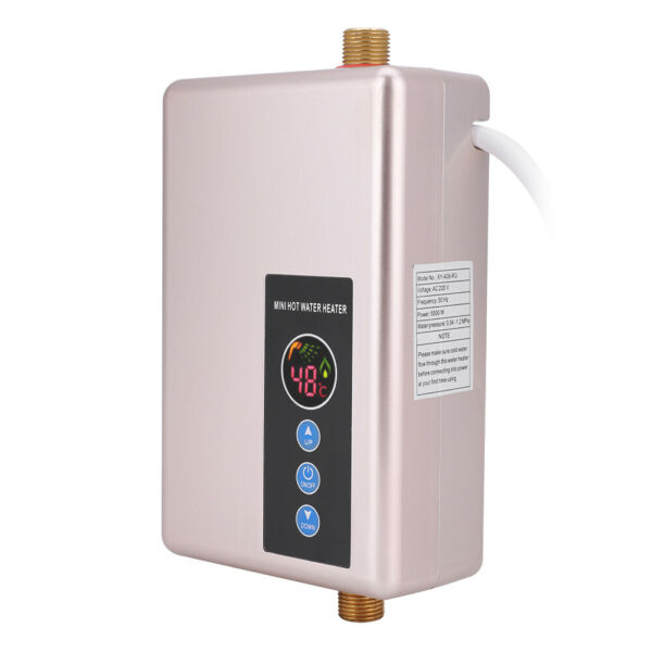 Mini Instant Electric Water Heater Tankless Shower Hot Water System Portable $105.98