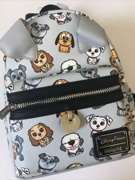 NEW DISNEY PARKS LOUNGEFLY BACKPACK DOGS Ariel Max 101 DALMATIANS LADY TRAMP $129.99