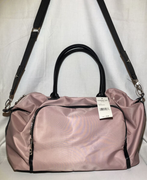 MADDEN GIRL Large Weekender Light Weight Carry On Tote Bag Blush Pink NEW $34.99