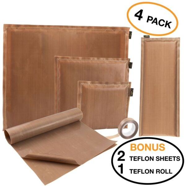 Amazing Creations Bundle 4 Heat Press Pillows 2 Teflon Sheets and Roll of tape $22.95