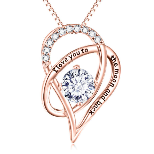 Valentine Day Gift for Her To My Wife Heart Pendant Necklace Love Quotes $9.99