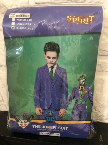 The Joker Suit halloween costumes for boys 14 16 jacket pants and tie included $28.00