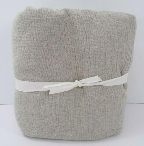 Pottery Barn Soft Cotton Duvet Cover Queen Natural Gray #7832 $88.90