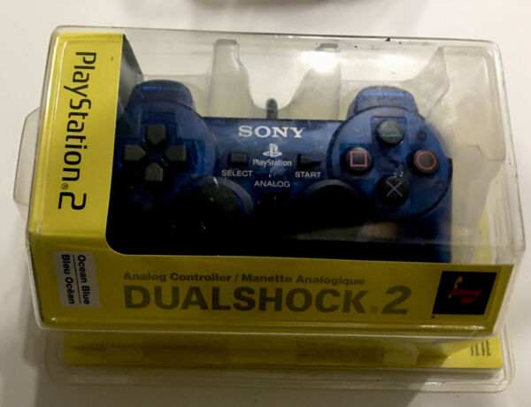 Sony Playstation DualShock 2 Ocean Blue Controller BRAND NEW SEALED Free Ship $69.99