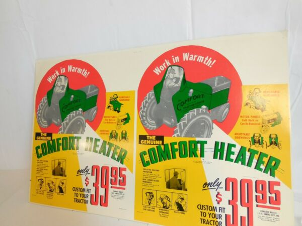 Comfort Cover Tractor Heater for Ferguson Tractors Poster Board Proof Ad Display $84.49