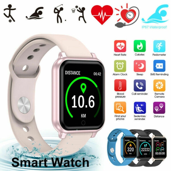 Waterproof Smart Watch Heart Rate Tracker Fitness Wristband For iPhone Android $18.99