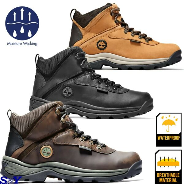 Timberland Waterproof Leather Moisture Wicking Hiking Hiker Work Boots tl $99.93