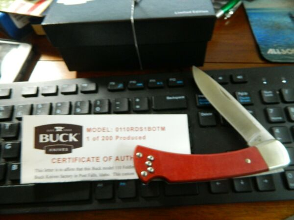Buck Of The Month LE Model 110 Folding Hunter Knife