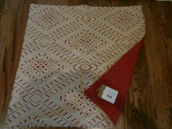 New Pottery Barn Miya Embroidered Pillow cover Christmas 24quot; Red NWT $42.00