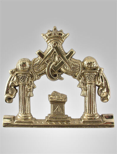 AWESOME ANTIQUE BRASS MASONIC PLAQUE $30.00