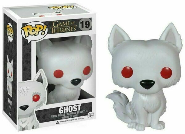 Funko POP Game of Thrones #19 Ghost Direwolf Vinyl Action Figure MIB John Snow