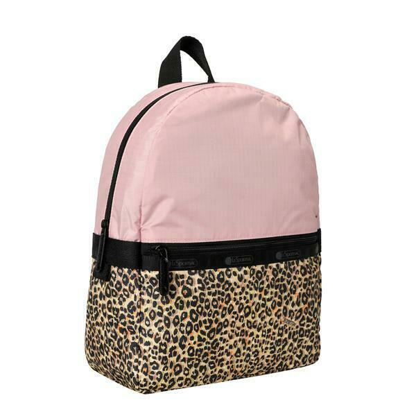 LeSportsac X Girl Collection Small Carrier Backpack in Leopard Lane Pink NWT $105.00