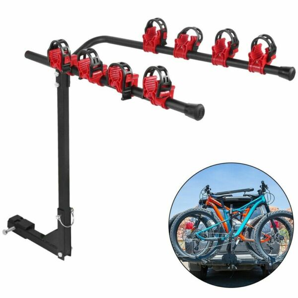 Portable Quick Release Bike Carrier Rack Hitch Mount Swing Down Receiver $45.99
