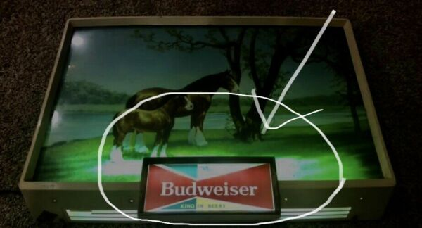 "REPLACEMENT BUDWEISER SIGN INSERT 6 3 4"" x 2 7 8"" NEW"