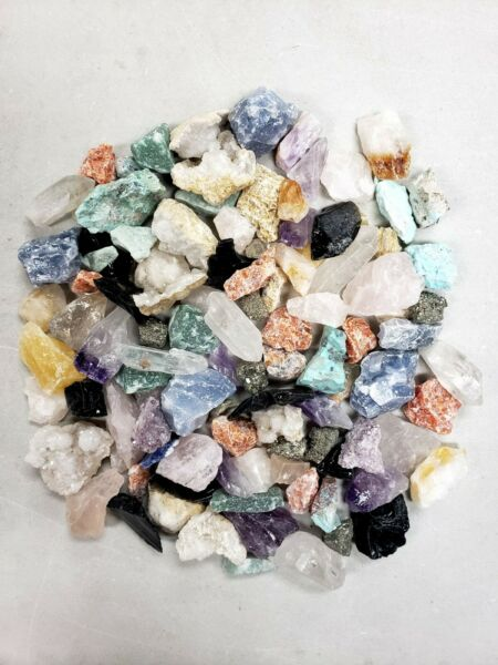 Raw Crystal Small Chips Assorted Crystals Bulk Rough Rocks Collection $17.50
