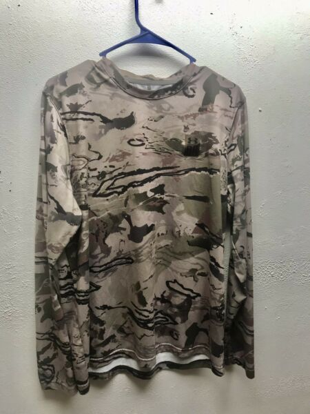 Under Armour Ridge Reaper Barren Long Sleeve Hunting Camo Shirt L Pre owned