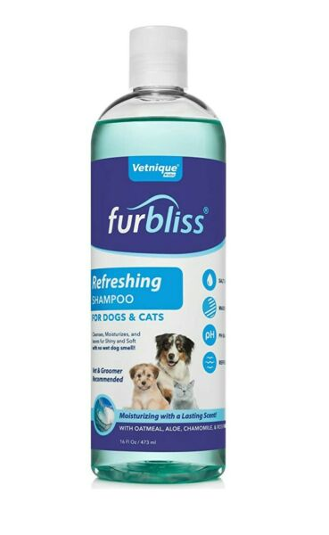 VETNIQUE LABS Furbliss Dog Shampoo with Essential Oils Leaves No Wet Dog Smell $15.00