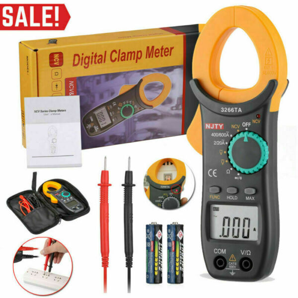 Portable Clamp Meter Digital AC DC OHM TRMS AMP Tester Capacitance Multimeter $15.99