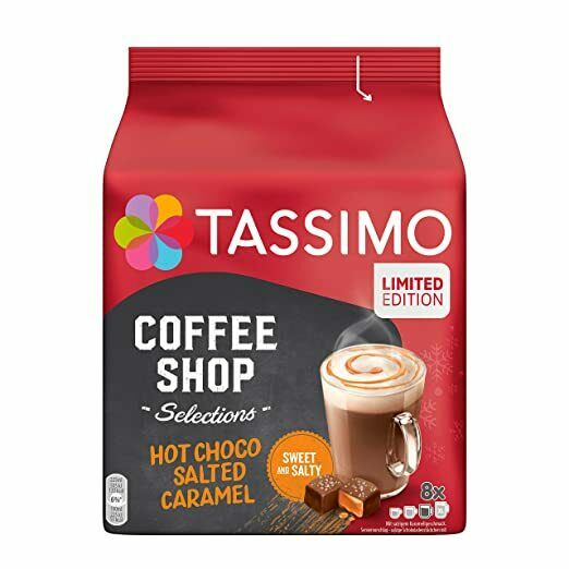 TASSIMO Hot Cocoa; SALTED CARAMEL Limited Edition Pods 8 pods FREE SHIPPING