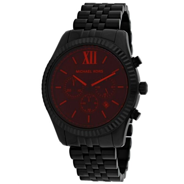 Michael Kors Man#x27;s MK8733 Lexington Black Stainless Steel Watch