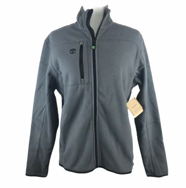 Timberland Total Comfort Fleece Jacket Mens XS Gray Slope Full Zip NWT $19.92