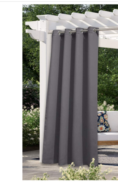 NICETOWN 108quot; L Outdoor Curtain for Patio Waterproof Thermal Insulated Grommet $28.75
