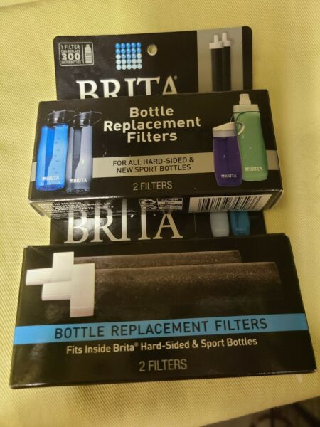 2 Two Packs BB06 Brita Bottle Replacement Filters Hard Sided or Sports