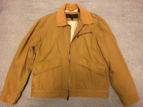 Timberland Men S Weathergear Corduroy Trim Canvas Work Field Jacket $27.00
