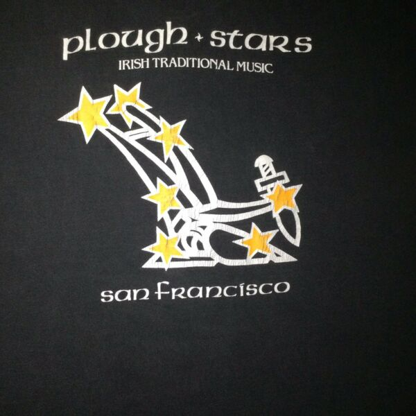 Vintage Irish Music T Shirt Plough And Stars San Francisco California Size XL
