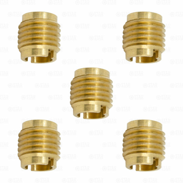 Beer Tap Handle Threaded Screw in Brass Insert Nut Ferrule 3 8 Threads PACK OF 5