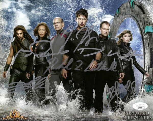 STARGATE ATLANTIS CAST x6 SIGNED 8X10 PHOTO MOMOA STAITELUTTRELL 3 JSA COA