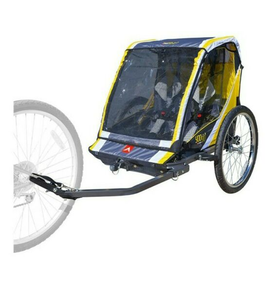 Allen Sports Deluxe Steel 2 Child Bicycle Trailer and Stroller S2 Yellow $128.00