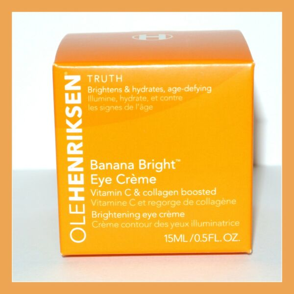 OLE HENRIKSEN Banana Bright Eye Creme Collagen Boosted Vitamin C Full Size New