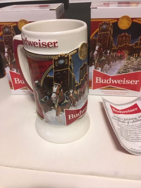 2020 Budweiser Holiday stein Brewery Edition Clydesdale Christmas