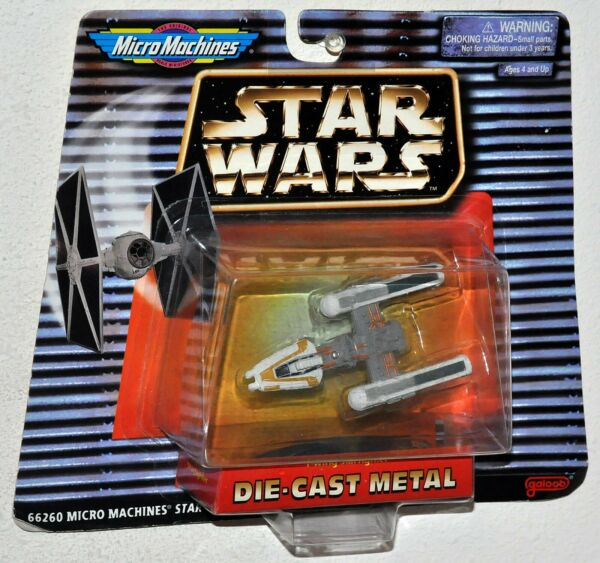Star Wars Micro Machines Die Cast X Wing Star Fighter MOC 66260 galoob 1996