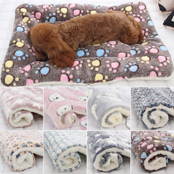 Puppy Pet House Blanket Cat Dog Bed Mattress Kennel Large Soft Large Crate Mats