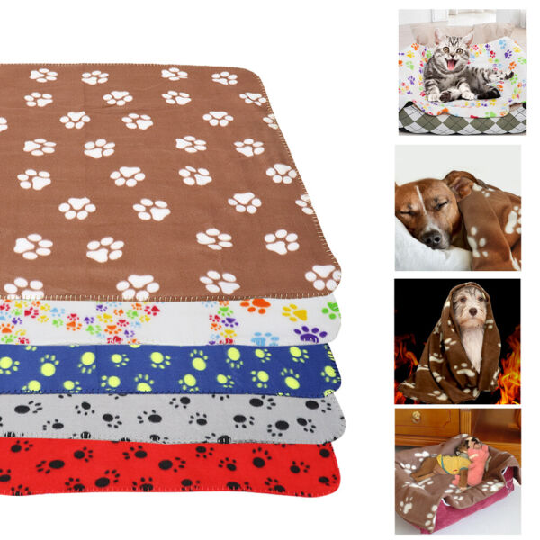 Dog Blankets for Small Medium Large Dogs Washable Fleece Bed Mat for Couch Crate $9.99