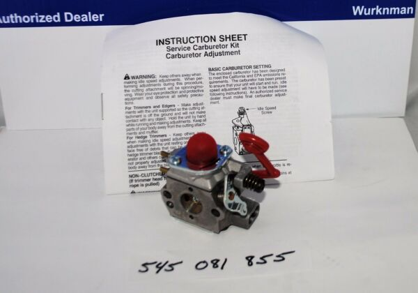OEM Poulan Craftsman Husqvarna Blower Carburetor BVM200C BVM200VS P200 545081855