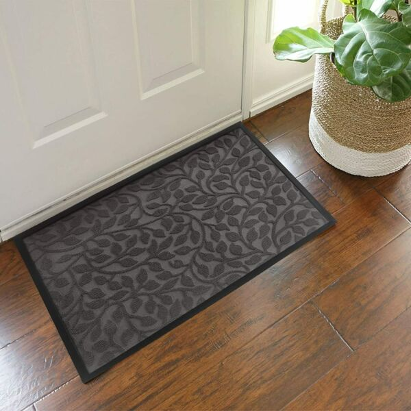 Waterproof Indoor Outdoor Mat Non Slip Doormats for Entrance Way17.7*29.5in Leaf