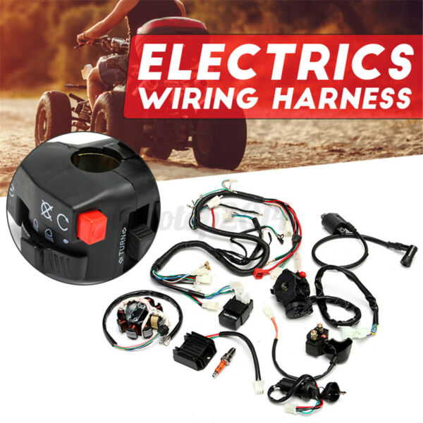 Electric Wiring Harness Wire Loom CDI Stator Kit for ATV QUAD CG125 150 250CC $36.57